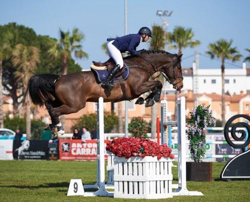 Oliva Spain - 2017 February 18: Guillet Laurent (FRA) and CORDIAL during CSI Mediterranean Equestrian Tour 2 Silver - 140. (photo: 1clicphoto.com I Nicole Ciscato)